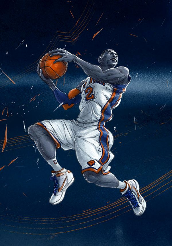 баскетболист рисунок стильный