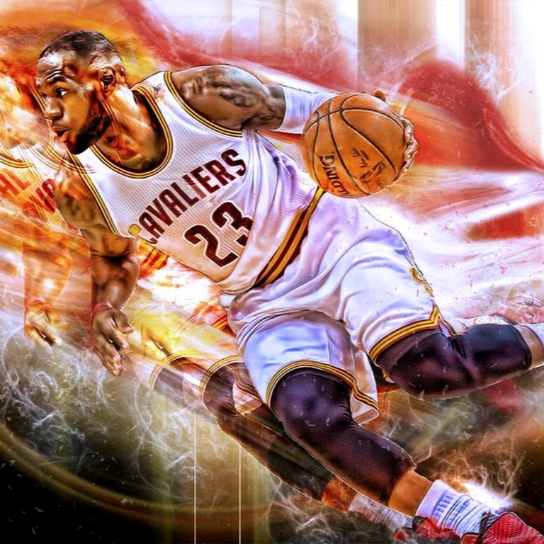 баскетболист рисунок яркий