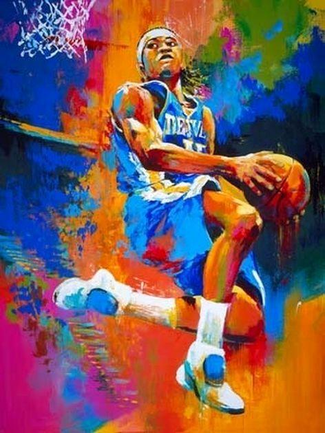 баскетболист силуэт стильный