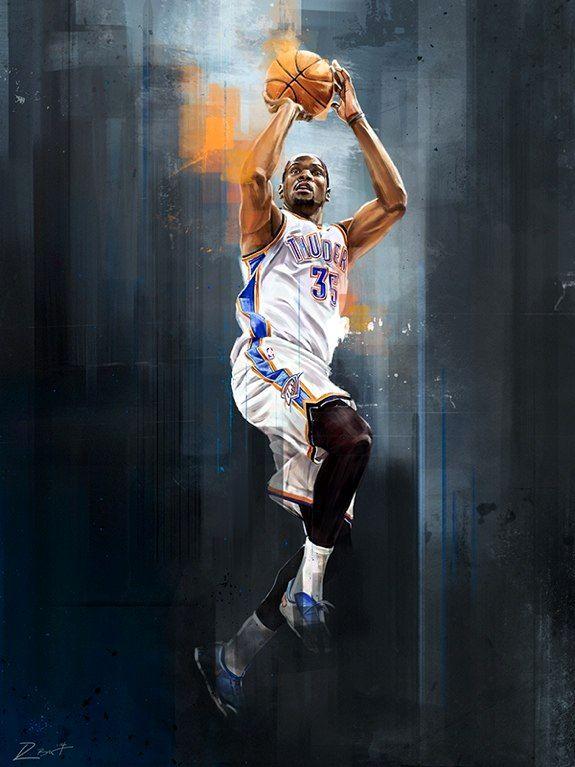 баскетболист силуэт фентези
