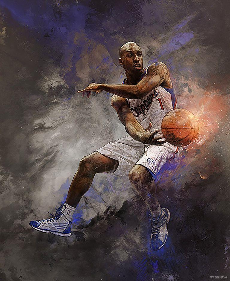 баскетбол арт яркий