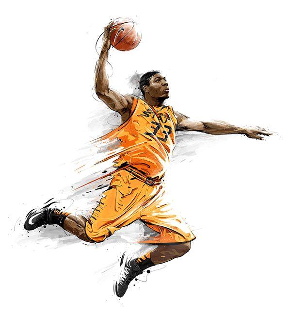 баскетбол рисунок красивый