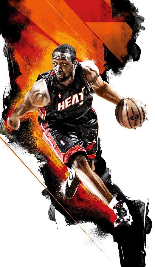 баскетбол рисунок стильный