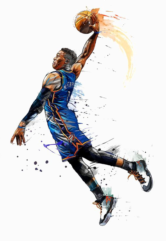 баскет рисунок стильный