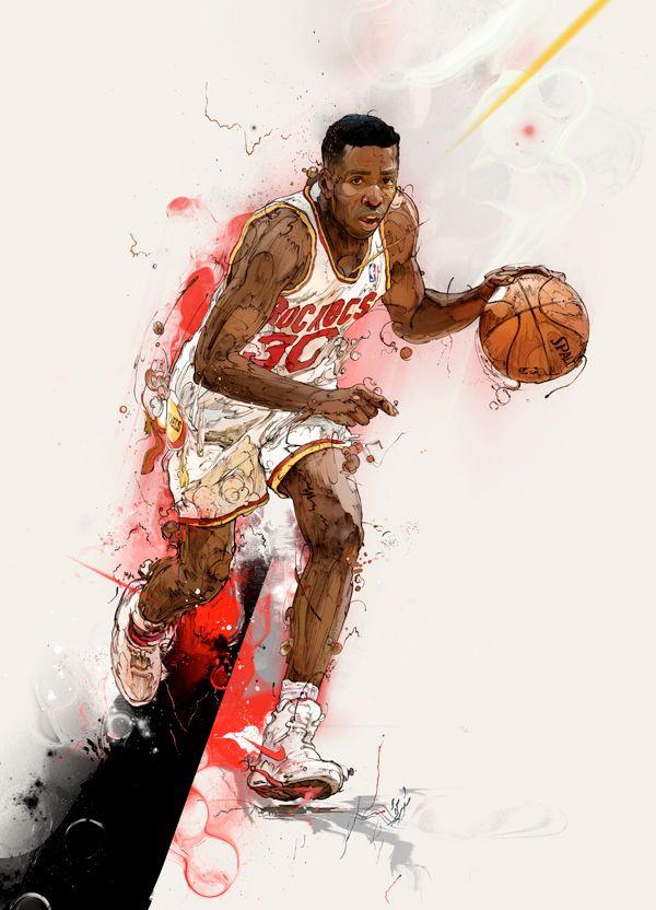 баскет рисунок яркий