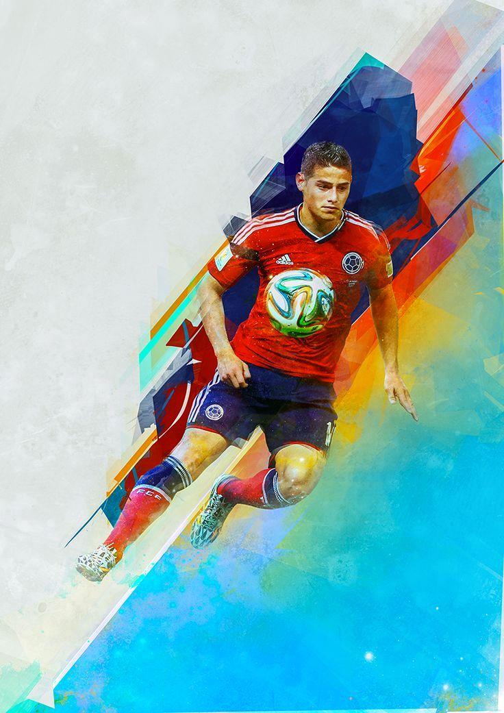 футболист обои цветной