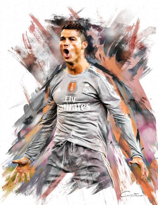 футболист фотошоп цветной