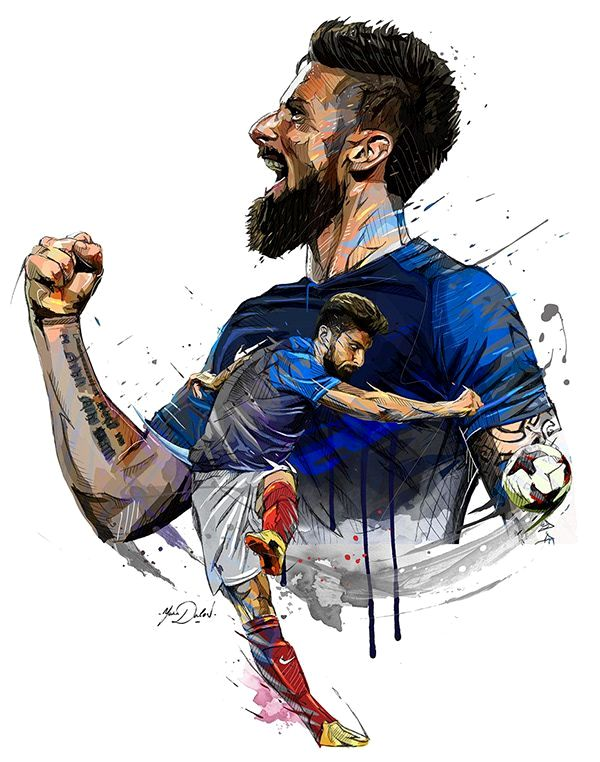 футбол арт яркий