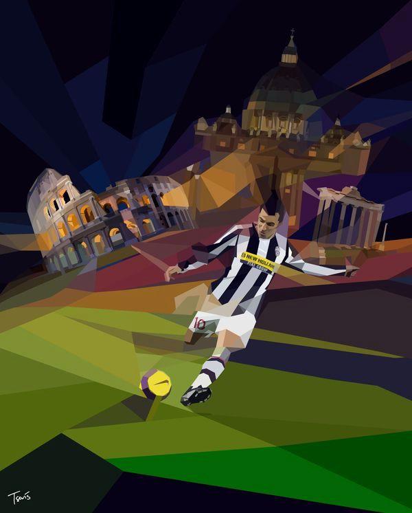 футбол рисунок необычный